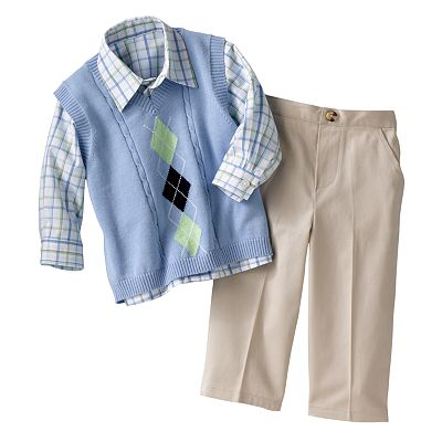 Great Guy Argyle Sweater Vest Set - Baby