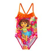 Dora the Explorer Floral One-Piece Swimsuit - Toddler