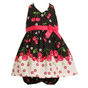 Jessica Ann Cherry Dot Halter Sundress - Baby