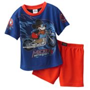 Disney Mickey Mouse and Friends Mickey Motorsports Pajama Set - Toddler