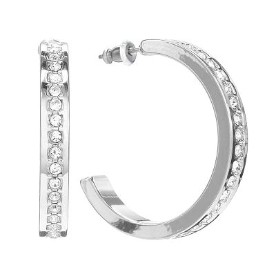 Apt. 9 Simulated Crystal Semi-Hoop Earrings
