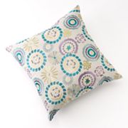 Carolina Embroidered Decorative Pillow