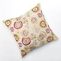 Carolina Embroidered Decorative Pillow