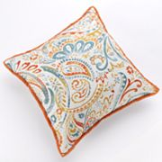 Watercolor Paisley Decorative Pillow