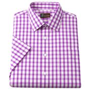 JT Oliver Classic-Fit Gingham Poplin Spread-Collar Dress Shirt