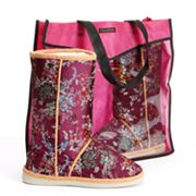 Cicciabella Ruby Floral Boot Slippers