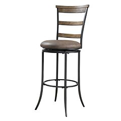 Charleston Ladder-Back Swivel Bar Stool