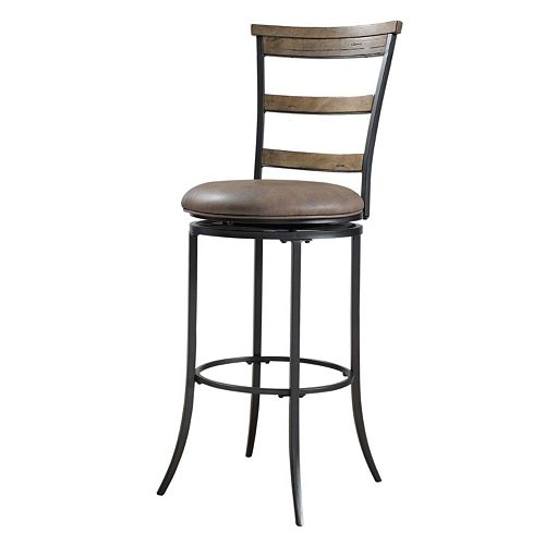 Charleston Ladder-Back Swivel Bar Stool