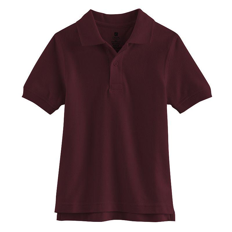 Chaps Solid Pique School Uniform Polo - Boys 4-7 (Red)