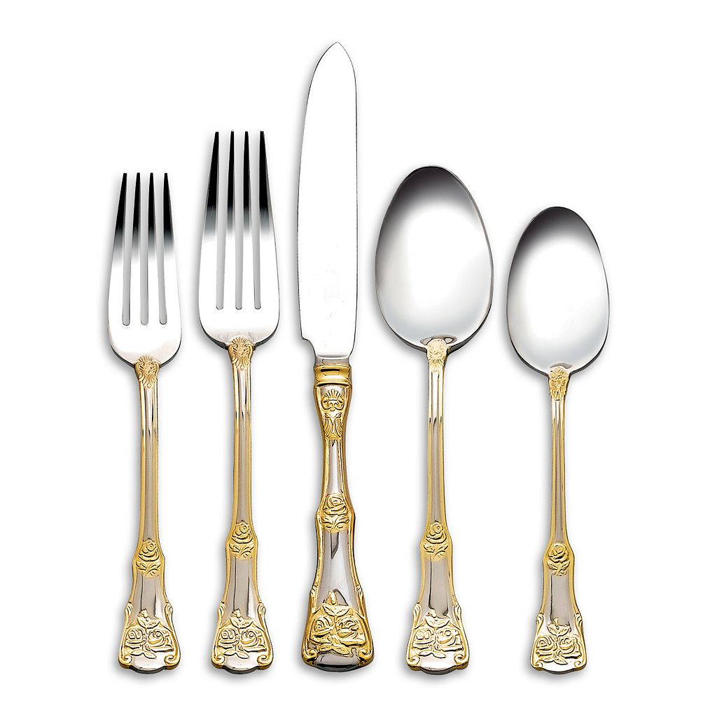 Royal Albert Old Country Roses 18/10 Stainless Steel 65-pc. Flatware Set