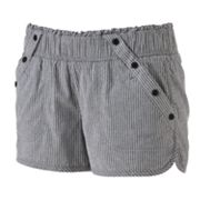 Rewind Smocked Striped Shortie Shorts - Juniors