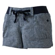 Rewind Pork Chop Shortie Shorts - Juniors