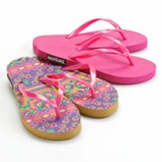 MUK LUKS 2-Pr. Abstract Flip-Flops