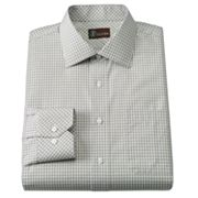 JT Oliver Slim-Fit Checked Poplin Spread-Collar Dress Shirt