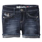 Hydraulic Embroidered Denim Shorts - Girls 7-16