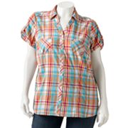 SONOMA life + style Lace-Trim Shirt - Women's Plus