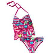 RayRay Bikini-Print 2-pc. Halter Tankini Swimsuit Set - Girls