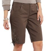 Gloria Vanderbilt Hazel Embroidered Bermuda Shorts - Petite