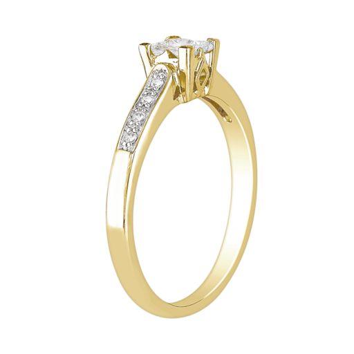 Stella Grace Princess-Cut Diamond Engagement Ring in 10k Gold (1/4 ct. T.W.)