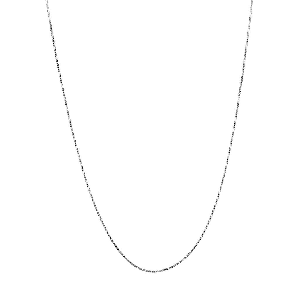 Everlasting Gold 14k White Gold Box Chain Necklace - 16-in.