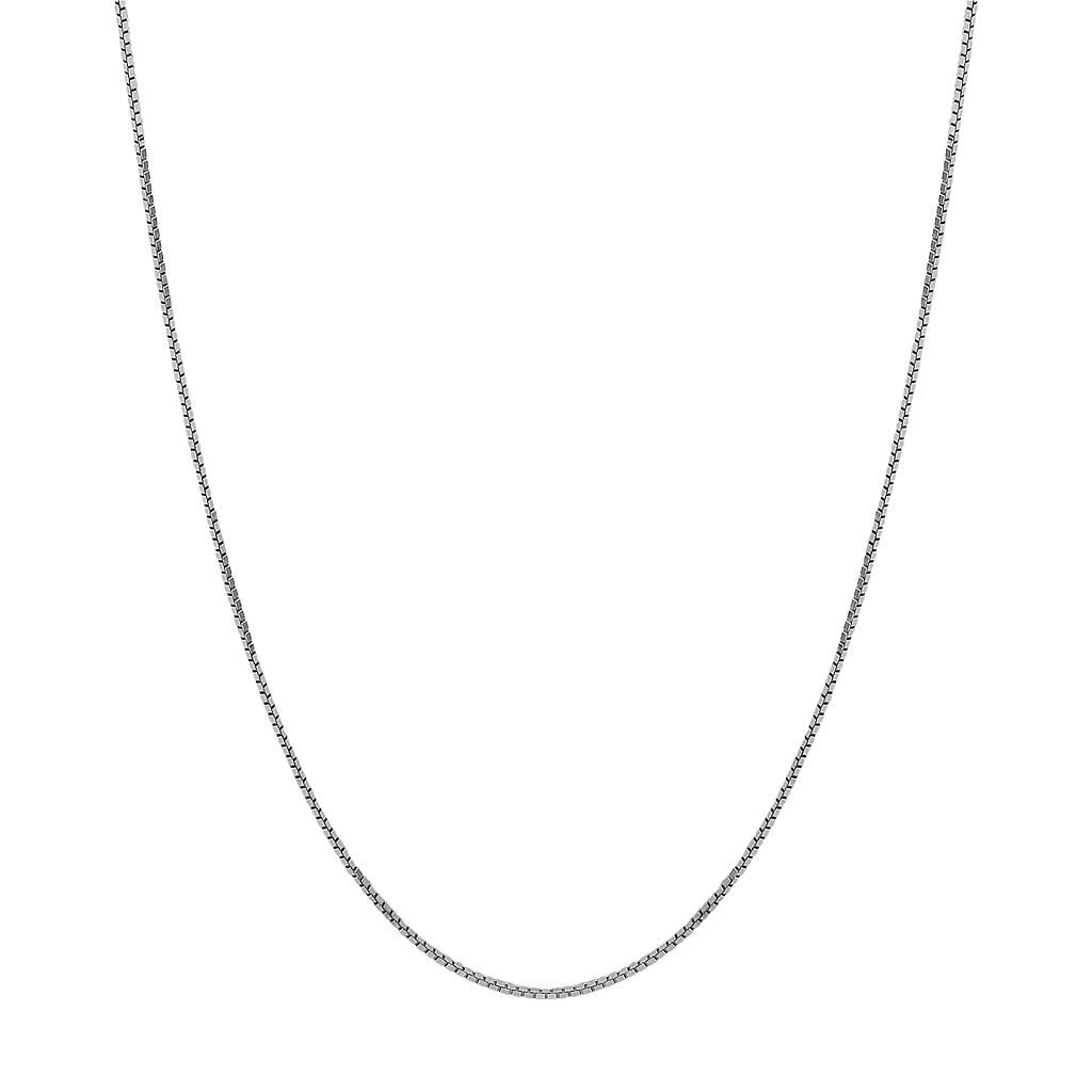Everlasting Gold 14k White Gold Box Chain Necklace - 18-in.