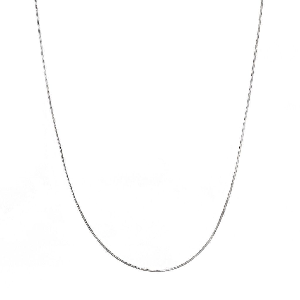 Everlasting Gold 14k White Gold Snake Chain Necklace - 18-in.