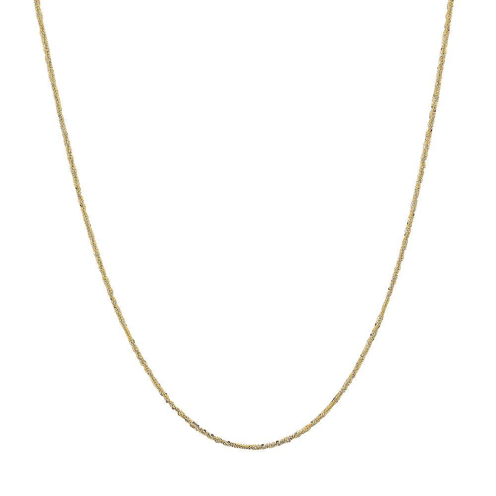 Everlasting Gold 14k Gold Crisscross Chain Necklace