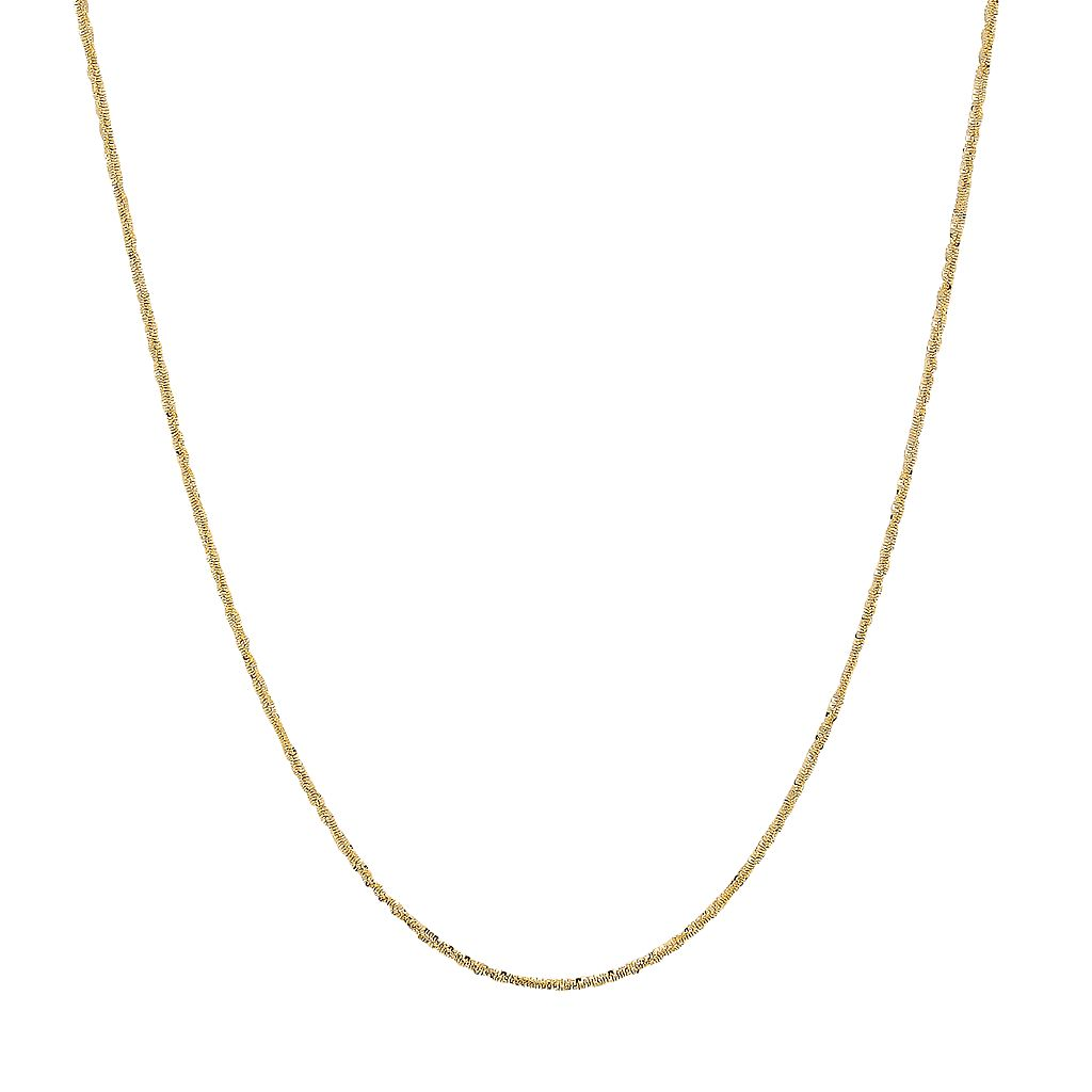 Everlasting Gold 14k Gold Crisscross Chain Necklace - 18-in.