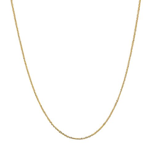 Everlasting Gold 14k Gold Crisscross Chain Necklace
