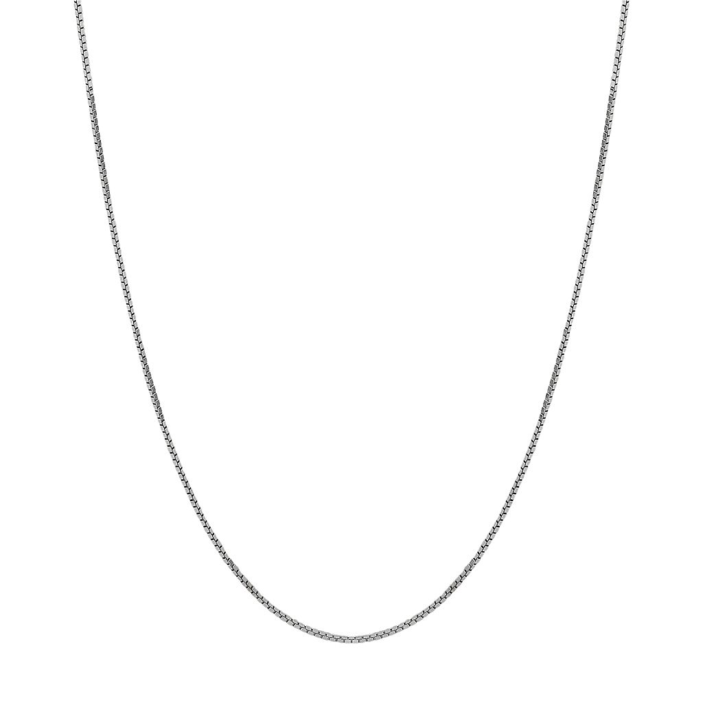 Everlasting Gold 14k White Gold Box Chain Necklace - 20-in.