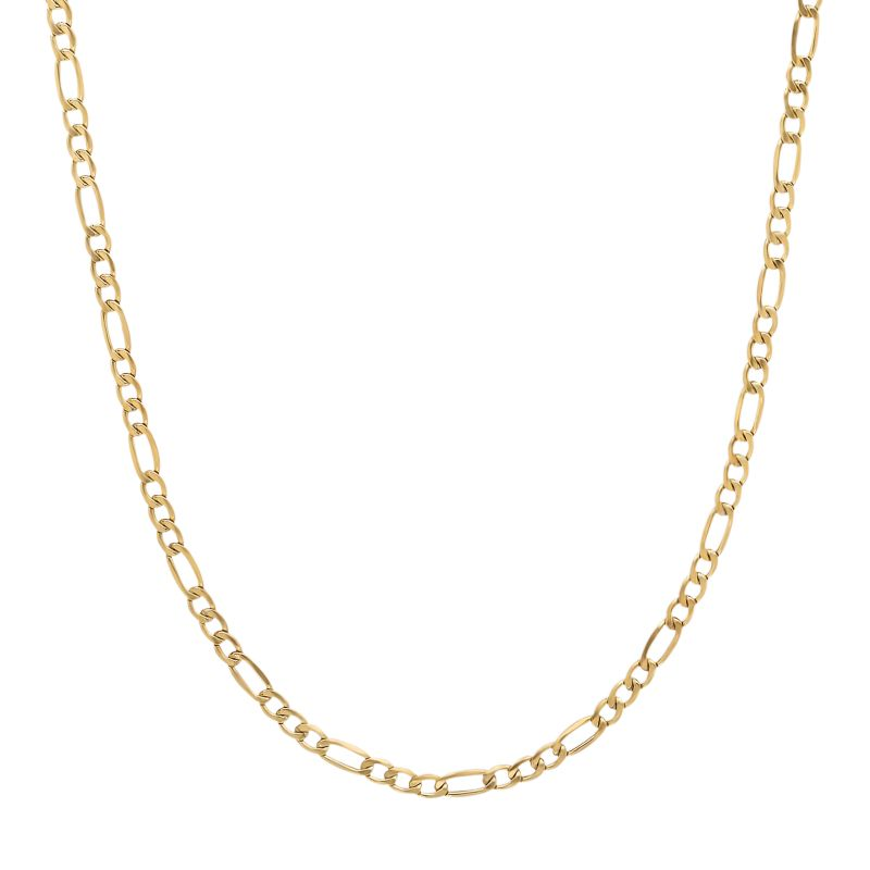 14k Gold Chain Necklace Gold 14k Gold Figaro Chain
