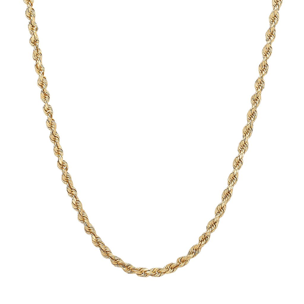 Everlasting Gold 14k Gold Rope Chain Necklace - 22-in.