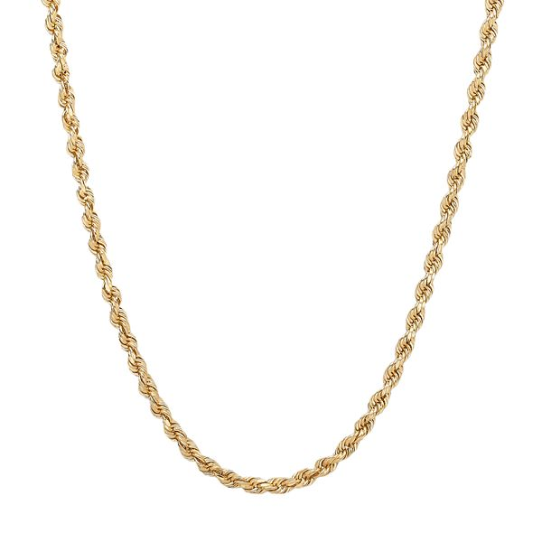 """Everlasting Gold 14k Gold Rope Chain Necklace - Yellow (22"""")"""