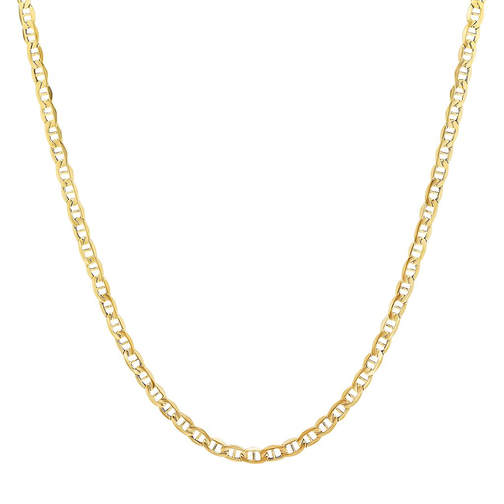 Everlasting Gold 14k Gold Mariner Chain Necklace - 22-in.