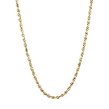 Everlasting Gold 14k Gold Rope Chain Necklace