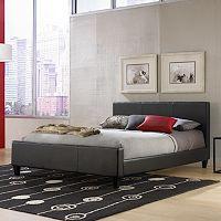 Euro Queen Black Platform Bed