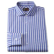 JT Oliver Slim-Fit Striped Poplin Spread-Collar Dress Shirt
