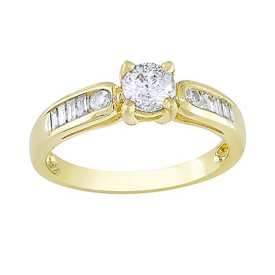 14k Gold 3/4-ct. T.W. IGL Certified Round-Cut Diamond Ring