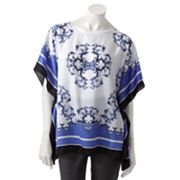 Dana Buchman Scroll Poncho Top