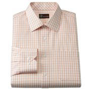 JT Oliver Classic-Fit Windowpane Twill Spread-Collar Dress Shirt
