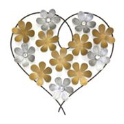 Floral Heart Wall Decor