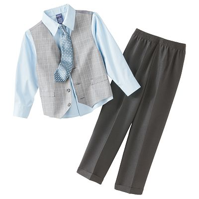 Arrow Plaid Vest Set - Boys 4-7