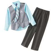 Arrow Pin-Striped Vest Set - Boys 4-7