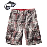 ZeroXposur Kickflip Plaid Beach 2 Street Shorts - Boys 8-20