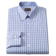 JT Oliver Classic-Fit Ombre Checked Button-Down Collar Dobby Dress Shirt