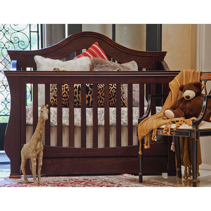 Million Dollar Baby Classic Ashbury 4-in-1 Convertible Crib (Brown)