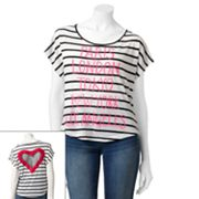 Jerry Leigh Striped Cities Tee - Juniors
