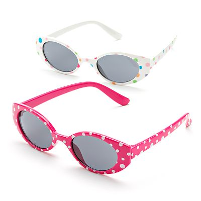 Jumping Beans 2-pk. Dotted Oval Sunglasses - Toddler