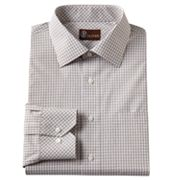 JT Oliver Classic-Fit Checked Poplin Spread-Collar Dress Shirt