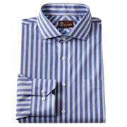 JT Oliver Classic-Fit Striped Poplin Spread-Collar Dress Shirt